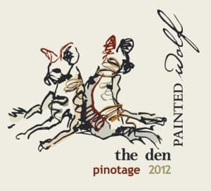 Painted Wolf The Den Pinotage 2012 Hi-Res Label