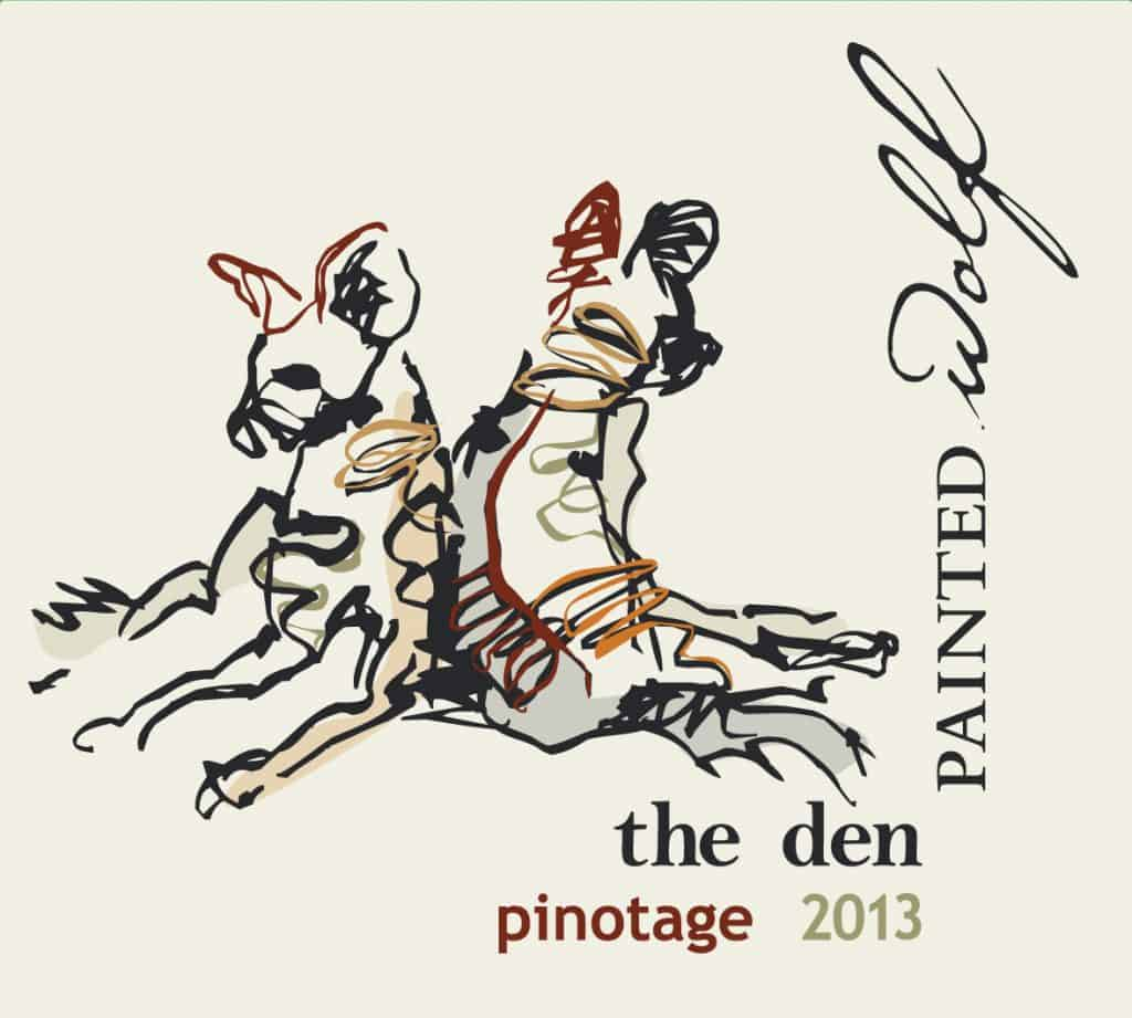 Painted Wolf The Den Pinotage 2013 Hi-Res Label