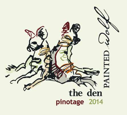 Painted Wolf The Den Pinotage 2014 Hi-Res Label