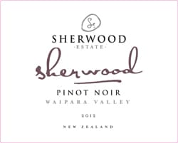 Sherwood Signature Pinot Noir 2012 Hi-Res Label