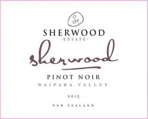 Sherwood Signature Pinot Noir 2015 Hi-Res Label