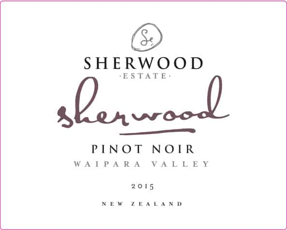 Sherwood Signature Pinot Noir 2015 Hi-Res Label