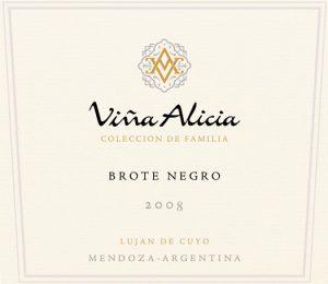 Vina Alicia Brote Negro Malbec 2008 Hi-Res Label