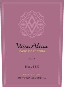 Vina Alicia Paso de Piedra Malbec 2011 Hi-Res Label