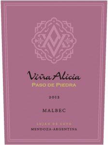 Vina Alicia Paso de Piedra Malbec 2012 Hi-Res Label