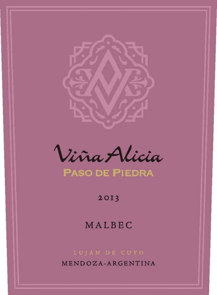 Vina Alicia Paso de Piedra Malbec 2013 Hi-Res Label