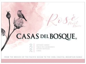 Casas del Bosque Rose 2020 Front label