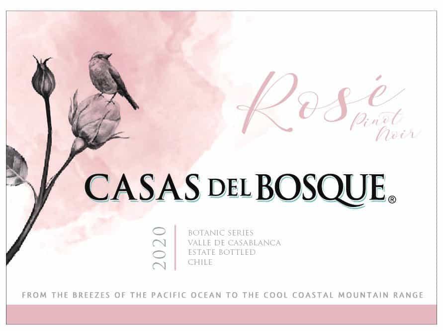Casas del Bosque Rose 2020 Front label