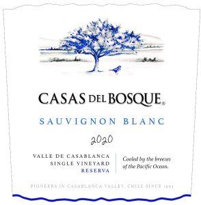 Casas del Bosque Reserva Sauvignon Blanc 2020 front label