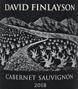 David Finlayson Cabernet 2018 label