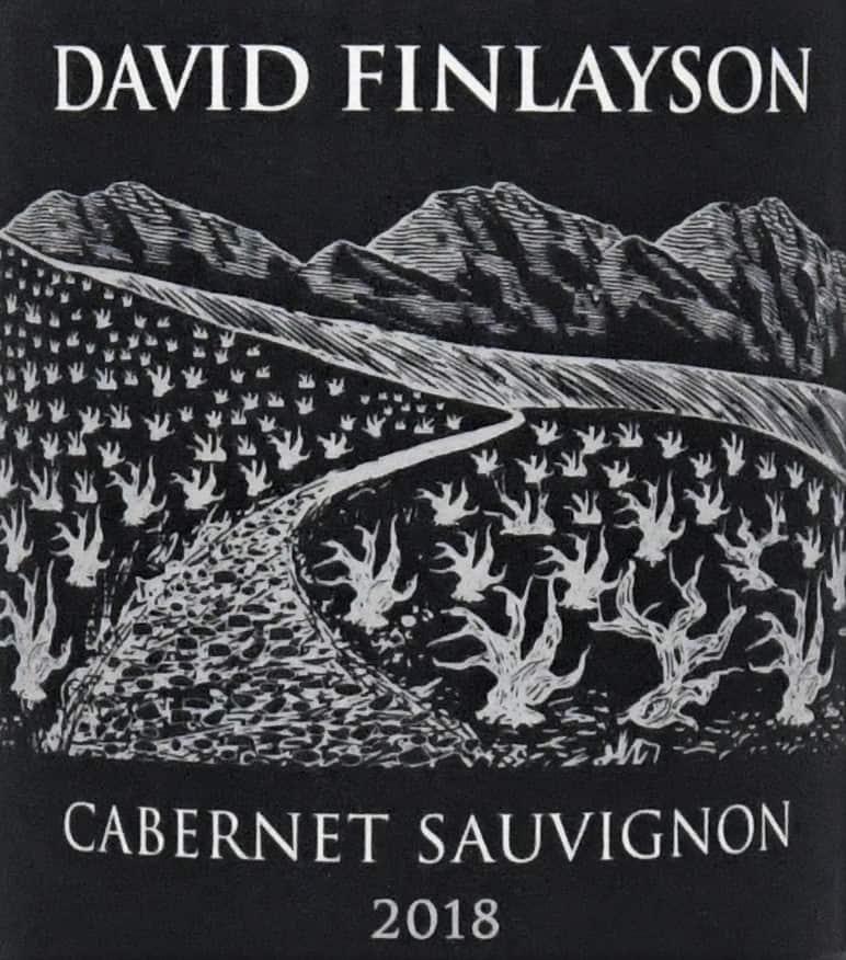 David Finlayson Cabernet 2018 label