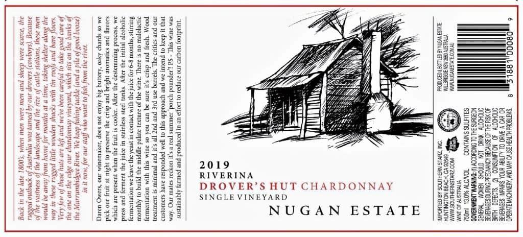 Drovers Hut Chardonnay 2019